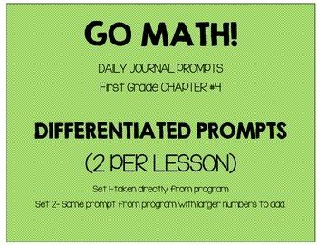 First Grade-GO MATH! Journal Chapter 4