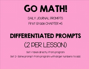 GO MATH! Journal Chapter 5