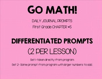 First Grade-GO MATH! Journal Chapter 5