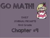 First Grade-GO MATH! Chapter 9 Journals