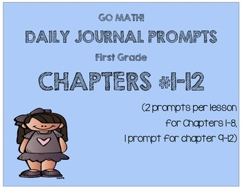 GO MATH! Journal Prompts Chapters 1-12