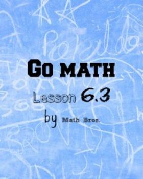 GO MATH Lesson Plans Unit 6 Grade 5