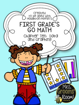 GO MATH'S CHAPTER TEN:  DATA AND GRAPHING ASSESSMENT FOR FIRST GRADE