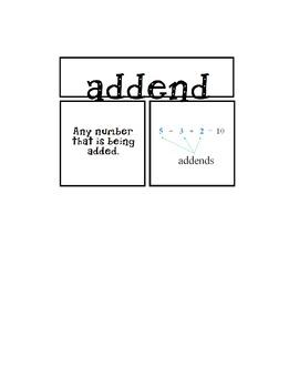 GO MATH UNIT 4 Vocabulary Cards