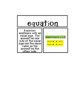 GO MATH UNIT 6 VOCABULARY CARDS