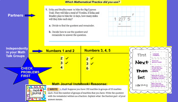 GO MATH (GRADE 5) UNIT TWO Lessons 2.7 and 2.9 PLUS Z-CHART Review !