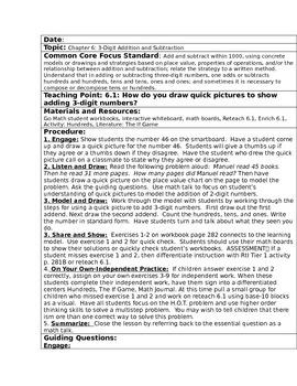 GO MATH Unit 6 Written Lesson Plans