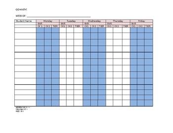 GO MATH! grouping spreadsheet