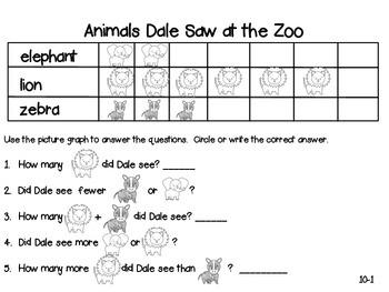 GO Math! 1st Grade Chapter 10 Activities (Represent Data)