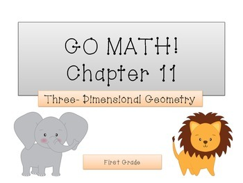 GO Math! 1st Grade Chapter 11 Activities (Geometry)