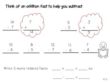 GO Math! 1st Grade Chapter 4 Activities (Subtraction Strategies)