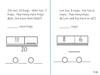 GO Math! 1st Grade Chapter 5 Activities (Addition and Subtraction Relationships)