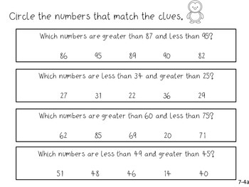 GO Math! 1st Grade Chapter 7 Activities (Compare Numbers)