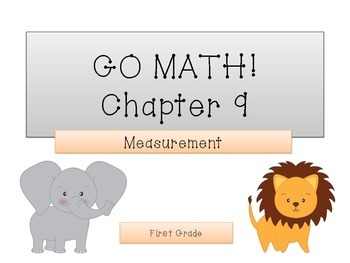 GO Math! 1st Grade Chapter 9 Activities (Measurement)