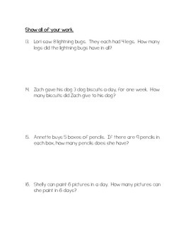 GO Math 3rd Grade Chapter 4 Multiplication Facts and Strategies