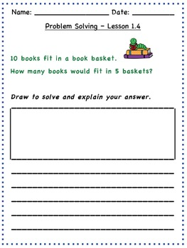 GO Math - 2nd Grade, Chapter 1 - Problem Solving / Journal Writing & Exit Slips