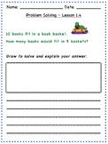 GO Math - 2nd Grade, Chapter 1 - Problem Solving / Journal