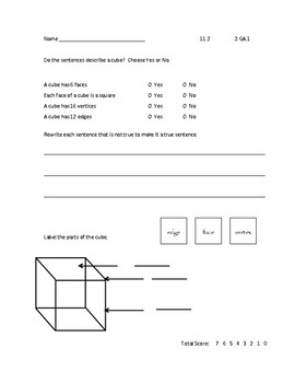 GO Math 2nd Grade Chapter 11 - Exit Slips