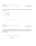 GO Math - 2nd Grade - Chapter 3 - Exit Slips
