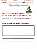 GO Math - 2nd Grade, Chapter 4 - Problem Solving / Journal Writing & Exit Slips
