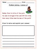 GO Math - 2nd Grade, Chapter 4 - Problem Solving / Journal