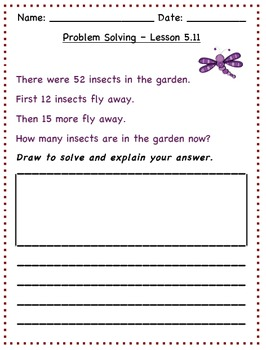 GO Math - 2nd Grade, Chapter 5 - Problem Solving / Journal Writing & Exit Slips