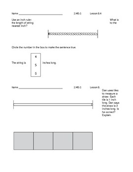GO Math 2nd Grade - Exit Slips - Chapter 8