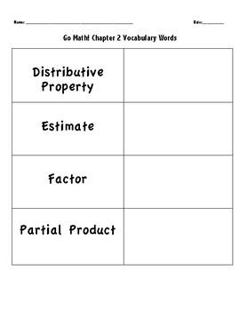 GO Math! 4th Grade Vocabulary Words