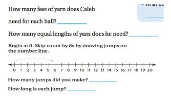 GO Math 6.2 Skip Count on a Number Line