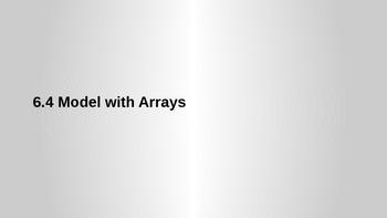 GO Math 6.4 Model with Arrays