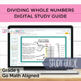 GO Math Aligned Grade 5 Chapter 2 Study Guide (Whole Numbe