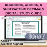 GO Math Aligned Grade 5 Chapter 3 Study Guide (Adding, Sub