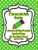 GO Math Bundle - First Grade Journal Writing, Exit Slips,
