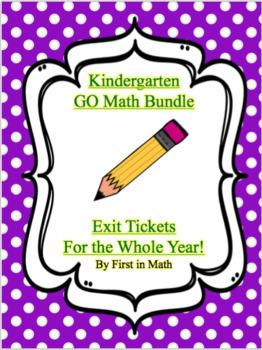 GO Math Kindergarten Exit Tickets & Checklists Bundle