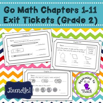 GO Math Chapter 1-11 Exit Tickets Bundle