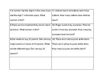 GO Math Chapter 1,2,3,4 Scavenger Hunt