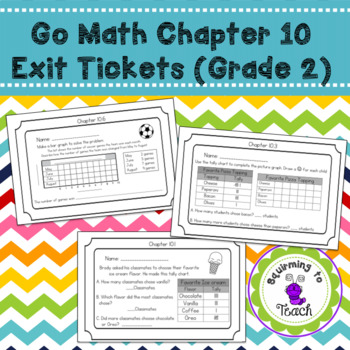 GO Math Chapter 10 Exit Tickets Grade 2