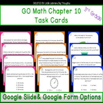 GO Math Chapter 10 Task Cards Grade 3