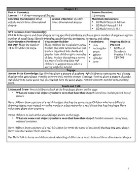 GO Math Chapter 11 Lesson Plans, Grade 2