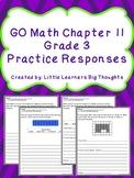 GO Math Chapter 11 Practice Responses Grade 3