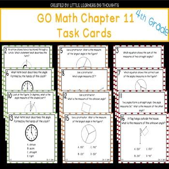 GO Math Chapter 11 Task Cards Grade 4