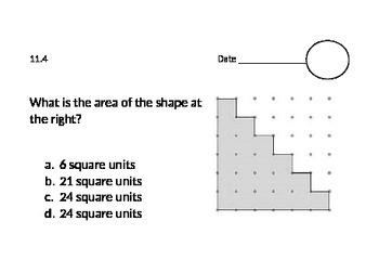 GO Math: Chapter 11 Test Prep