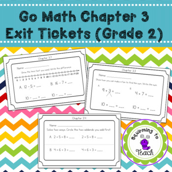 GO Math Chapter 3 Exit Tickets grade 2
