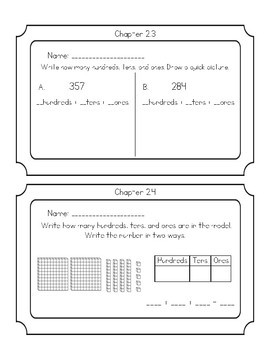 GO Math Chapter 2 Exit Tickets grade 2