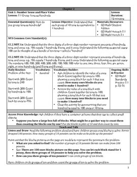 GO Math Chapter 2 Lesson Plans, Grade 2