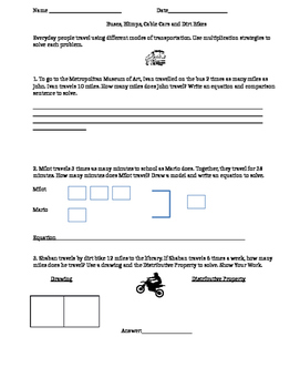 GO Math! Chapter 2 Mock Performance Task