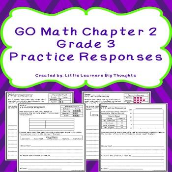 GO Math Chapter 2 Practice Responses Grade 3