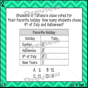 GO Math Chapter 2 Task Cards Grade 3