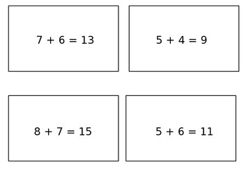 GO Math! Chapter 3 Freebie (Addition Strategy Sort)