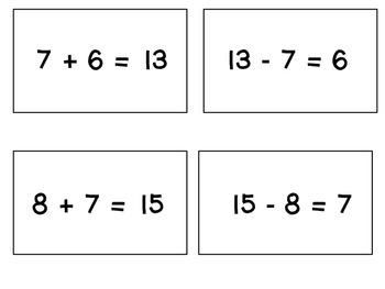 GO Math! Chapter 4 Freebie (Think Addition to Subtract Game)